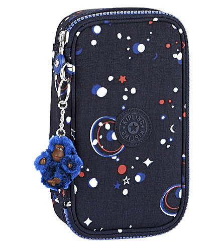 KIPLING 50 pens back to school nylon pencil case (Galaxy+party