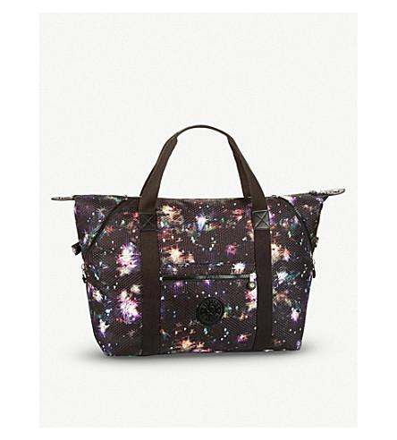 KIPLING Art S Printed nylon handbag (Winter+firework