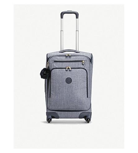 KIPLING Youri cabin four-wheel suitcase 55cm (Cotton+jeans