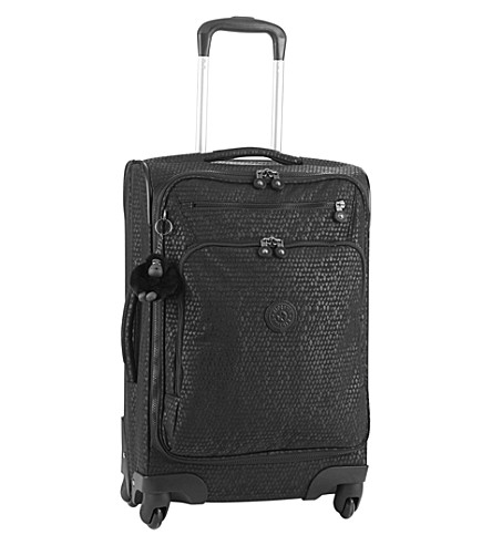 KIPLING Youri four-wheel spinner suitcase 55cm (Black+scale+emb