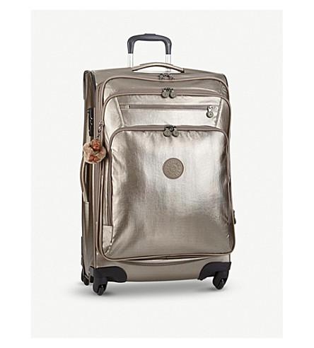 KIPLING Youri metallic four-wheel cabin suitcase 68cm (Metallic+pewter