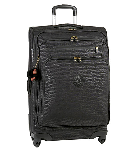 KIPLING Youri four-wheel spinner suitcase 68cm (Black+scale+emb