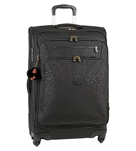 KIPLING Youri four-wheel spinner suitcase 68cm (Black+scale+emb