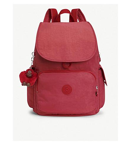 nylon de rojo Pack picante City KIPLING mochila HOwqtgxI