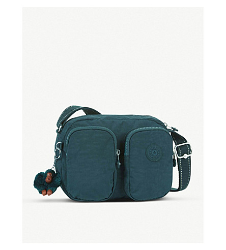 KIPLING Patti nylon small crossbody bag (Deep+emerald+c