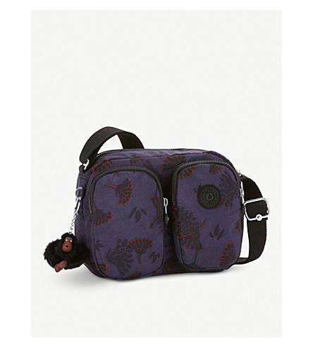 KIPLING Patti patterned nylon small crossbody bag (Floral+night