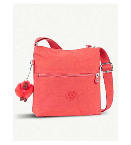 KIPLING Zamor nylon shoulder bag (Galaxy+orange