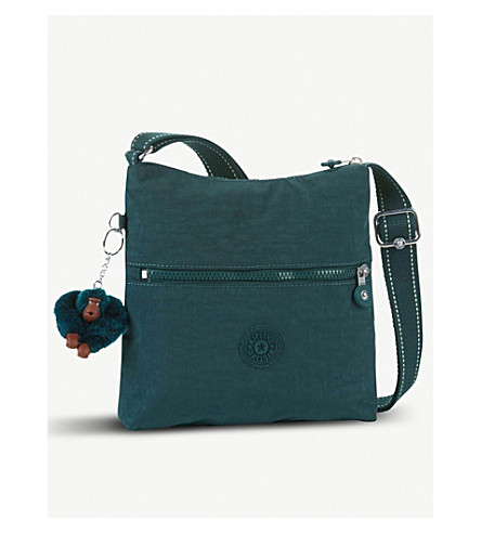 KIPLING Zamor nylon shoulder bag (Deep+emerald+c