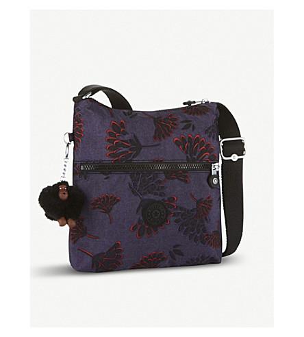 KIPLING Zamor nylon shoulder bag (Floral+night