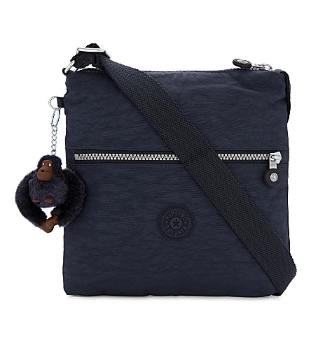 KIPLING Zamor woven shoulder bag (Alaskan+blue