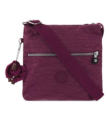 KIPLING Zamor nylon shoulder bag (Berry