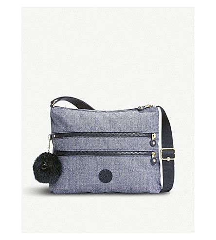 KIPLING Alvar woven crossbody shoulder bag (Cotton+jeans