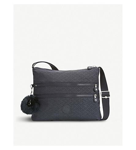 KIPLING Alvar nylon shoulder bag (Night+blue+emb