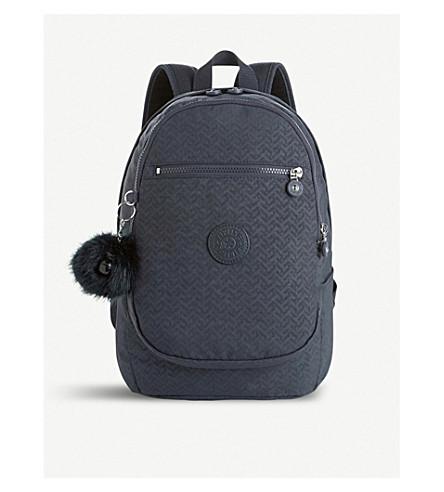KIPLING Clas Challenger medium nylon backpack (Night+blue+emb
