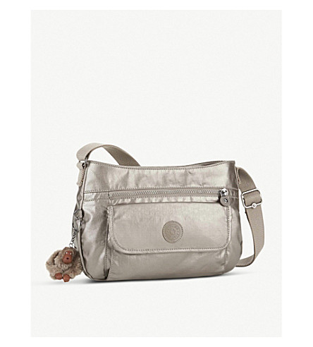 KIPLING Syro nylon crossbody bag (Metallic+pewter