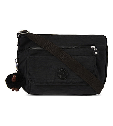 KIPLING Syro nylon shoulder bag (Dazz+black