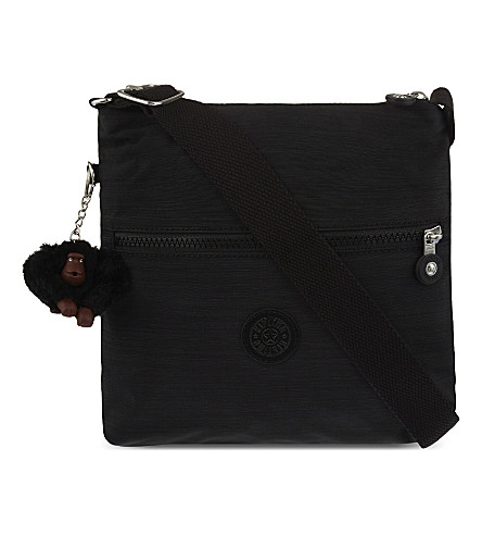 KIPLING Zamor nylon shoulder bag (Dazz+black