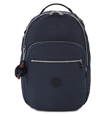 KIPLING Clas Seoul nylon backpack (Alaskan+blue