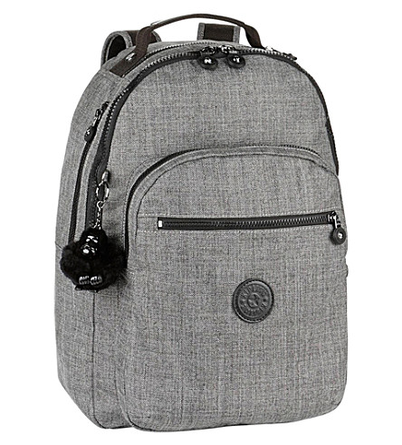 KIPLING Clas Seoul large nylon backpack (Cotton+grey