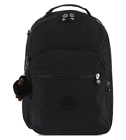KIPLING Clas Seoul large nylon backpack (Dazz+black