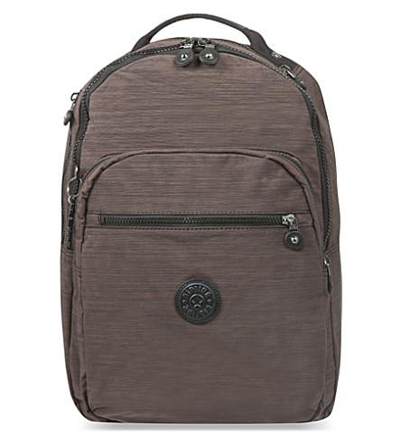KIPLING Clas Seoul large nylon backpack (Dazz espresso c
