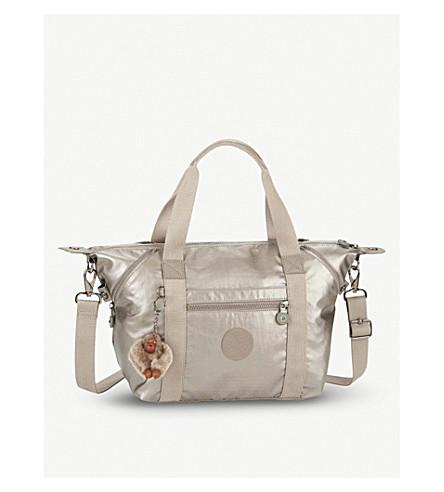 KIPLING Art S printed nylon handbag (Metallic+pewter
