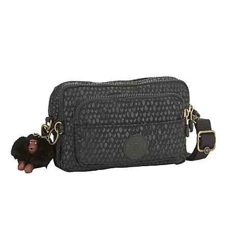 KIPLING Multiple nylon travel bag (Black+scale+emb