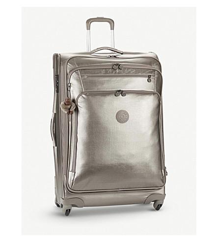KIPLING Youri metallic four-wheel cabin suitcase 78cm (Metallic+pewter