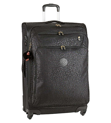 KIPLING Youri four-wheel spinner suitcase 78cm (Black+scale+emb