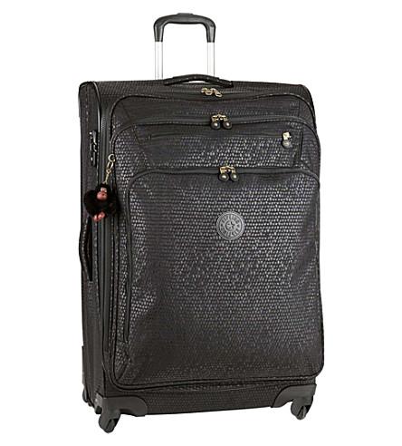 KIPLING Youri four-wheel spinner suitcase 78cm (Black+scale+emb