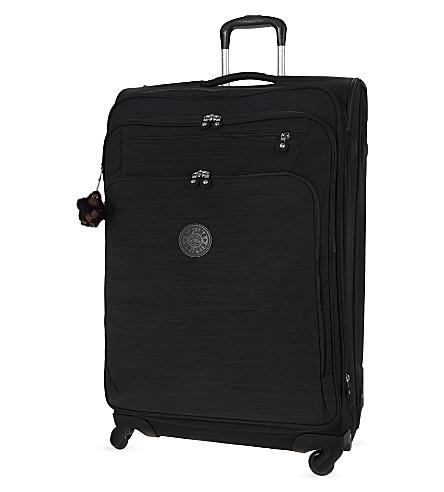 KIPLING Youri four-wheel spinner suitcase 78cm (Dazz+black