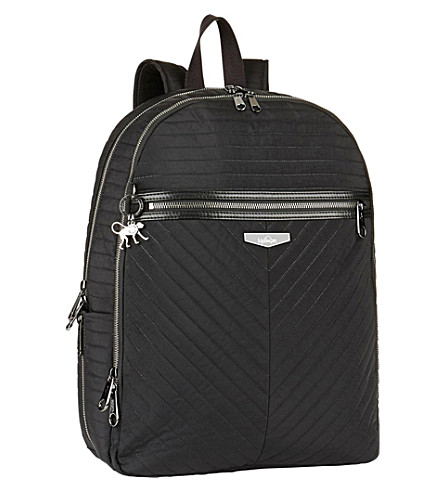 KIPLING Deeda padded laptop backpack (Bold+black