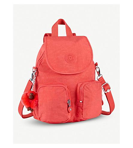 KIPLING Firefly Up convertible medium shell backpack (Galaxy+orange