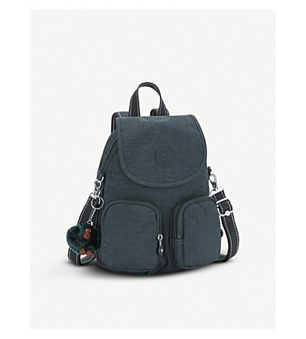 KIPLING Firefly Up convertible medium shell backpack (Deep+emerald+c