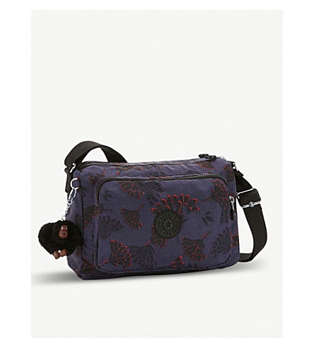 KIPLING Reth patterned medium nylon crossbody bag (Floral+night