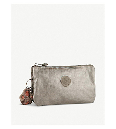 KIPLING Creativity large metallic purse (Metallic+pewter