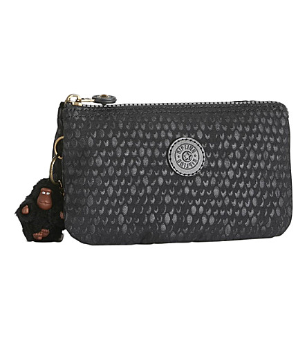 KIPLING Creativity large nylon purse (Black+scale+emb
