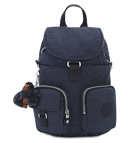 KIPLING Firefly mini nylon backpack (Alaskan+blue