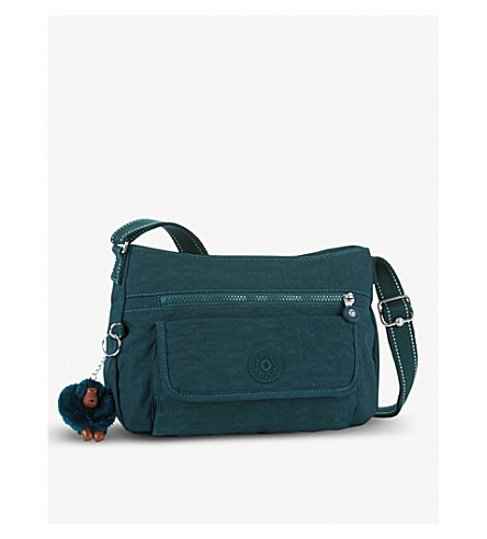 KIPLING Syro nylon crossbody bag (Deep+emerald+c