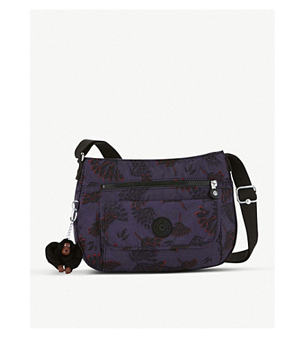 KIPLING Syro patterned nylon crossbody bag (Floral+night
