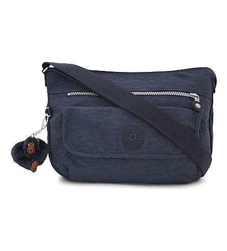 KIPLING Syro nylon shoulder bag (Alaskan+blue