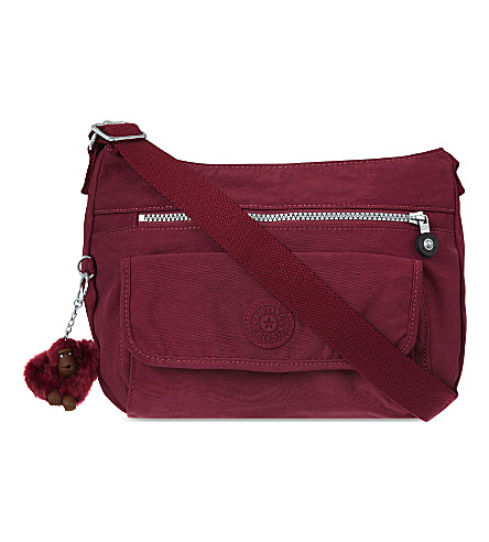 KIPLING Syro nylon shoulder bag (Berry