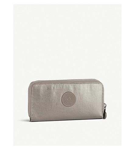 KIPLING Uzario large nylon wallet (Metallic+pewter