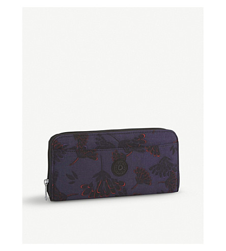 KIPLING Nylon travel document holder (Floral+night