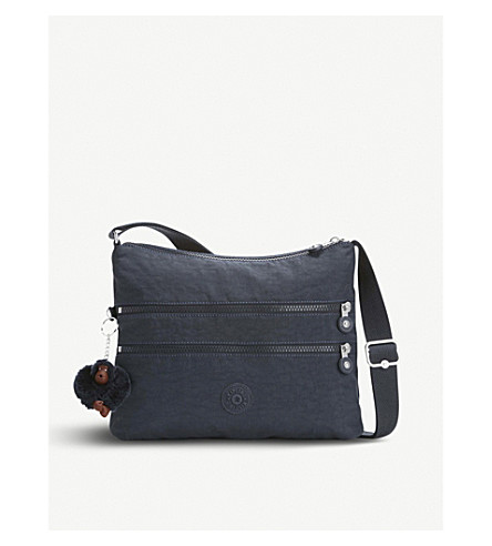 KIPLING Alvar woven crossbody shoulder bag (True+navy