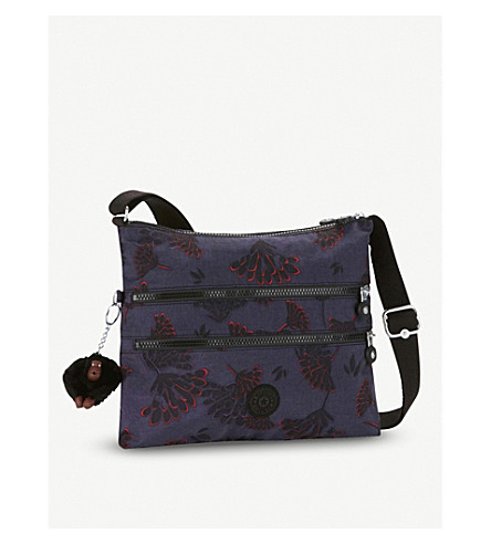 KIPLING Alvar nylon shoulder bag (Floral+night