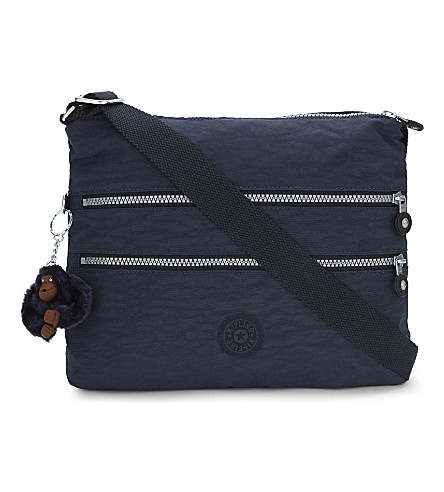 KIPLING Alvar zipped shoulder bag (Alaskan+blue
