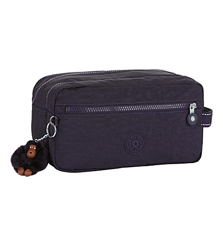 KIPLING Agot water-resistant toiletry bag (Blue+purple+c
