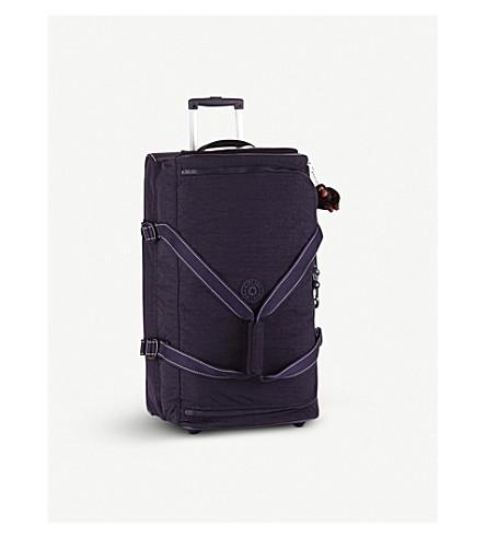 KIPLING Teagan wheeled nylon duffle bag 66cm (Blue+purple+c