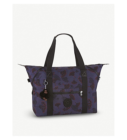 KIPLING Art floral nylon travel tote bag (Floral+night